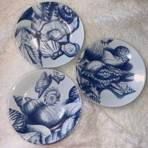 🍭PHILIPPE DESHOULIERES LIMOGES SHELL 6 PLATES